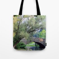 central park Tote Bags featuring Central Park by Elizabeth Chung