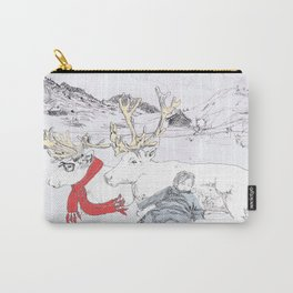 Reindeer in a scarf Carry-All Pouch