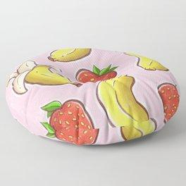 Strawberry and Banana Floor Pillow
