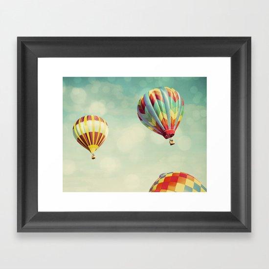 Perfect Dream - Hot Air Balloons Framed Art Print