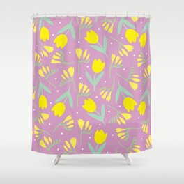 Tulip & Freesia Shower Curtain