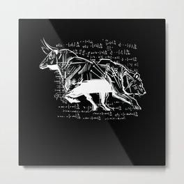 Stock Market Capitalist Bull Bear Stocks Metal Print