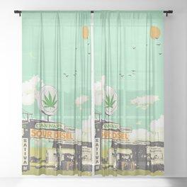 SOUR DIESEL Sheer Curtain