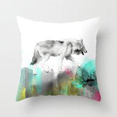 Wild No. 3 // Wolf Throw Pillow