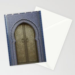 Arabic Mosaic Door gold Marokko Stationery Cards