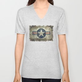 US Air force style insignia V2 Unisex V-Neck