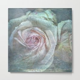 Vintage Rose - Vintage English Rose Metal Print