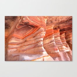 Colorful sandstone in Petra, Jordan (Picture 5) Canvas Print