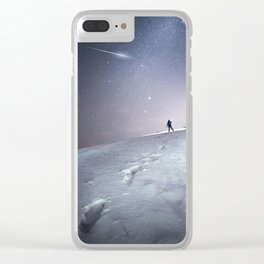 Ice Skies Clear iPhone Case