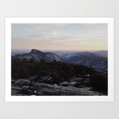 Linville Gorge Winter Art Print