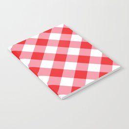 Gingham - Red Notebook