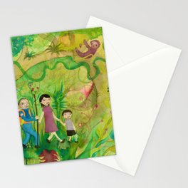 Family Monteverde Cloud Forest Walk Stationery Cards