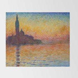 San Giorgio Maggiore by Twilight by Claude Monet Throw Blanket