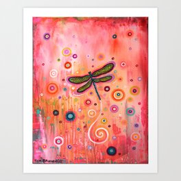 Cosmic Dragonfly 1 Art Print