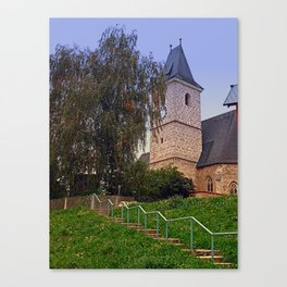 The village church of Kronstorf I   architectural photography Canvas Print