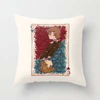 chihiro Throw Pillows featuring The Chihiro of Hearts by Dampho