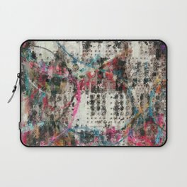 Analog Synthesizer, Abstract painting / illustration Laptop Sleeve