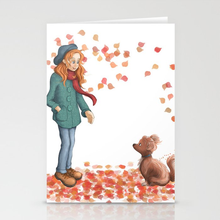 just a two of us autumn stationery cards by cherry14 society6