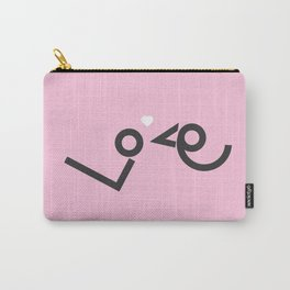 'Love' birds minimal typo #society6 #love #buyart Carry-All Pouch