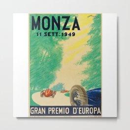 Grand Prix Monza, 1949, Gran Premio Monza, vintage poster Metal Print