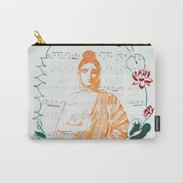 Buddha with Lotuses Carry-All Pouch