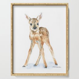 Deer Fawn Serving Tray