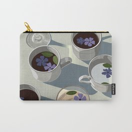 Purple Morning Flowers Carry-All Pouch