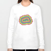 geode Long Sleeve T-shirts featuring Rainbow Geode by Audrey Pixel Designs