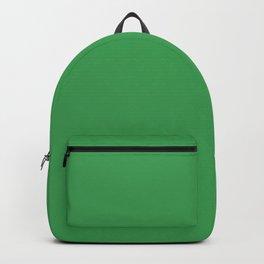 Solid Fresh Clover Green Color Backpack