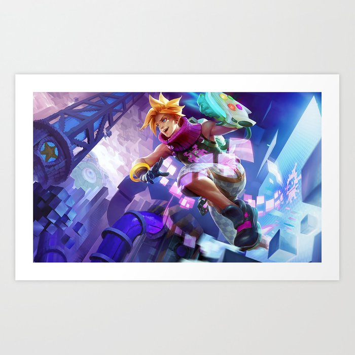 Arcade Ezreal League Of Legends Art Print By Amumus Society6