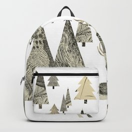 Winter Woods, collage Backpack