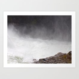 Mist Rising From the Rapids, Churning Water, Fast Moving River Art Print