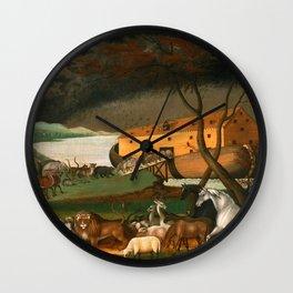 Noah's Ark by Edward Hicks Wall Clock