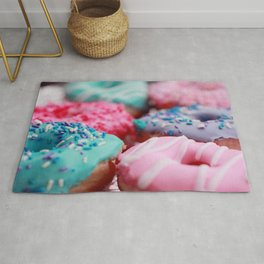 Lavender And Pink Donuts Rug