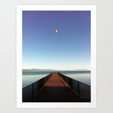 Hot Air Balloon Lake Tahoe Art Print