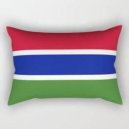 Gambia Flag Rectangular Pillow