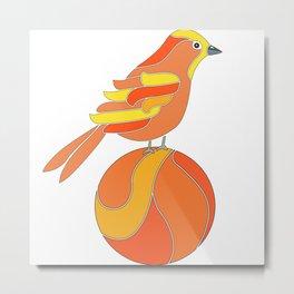 Yiguirro on an orange Metal Print