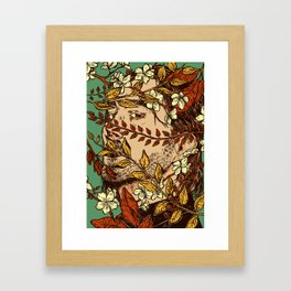 Dead inside, all pretty on the outside Framed Art Print