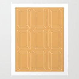 3D Geometric Minimalist Pattern VII Art Print