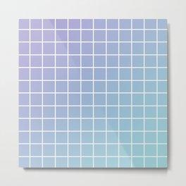 Lavender acqua minimalist grid pattern Metal Print
