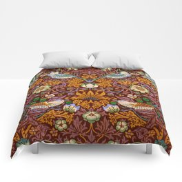 "William Morris ""Strawberry Thief"" 3. Comforters"