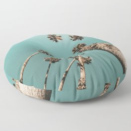 {1 of 2} Palm Trees = Happy // Teal Summer Sky Floor Pillow