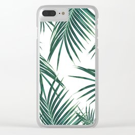 Green Palm Leaves Dream #2 #tropical #decor #art #society6 Clear iPhone Case