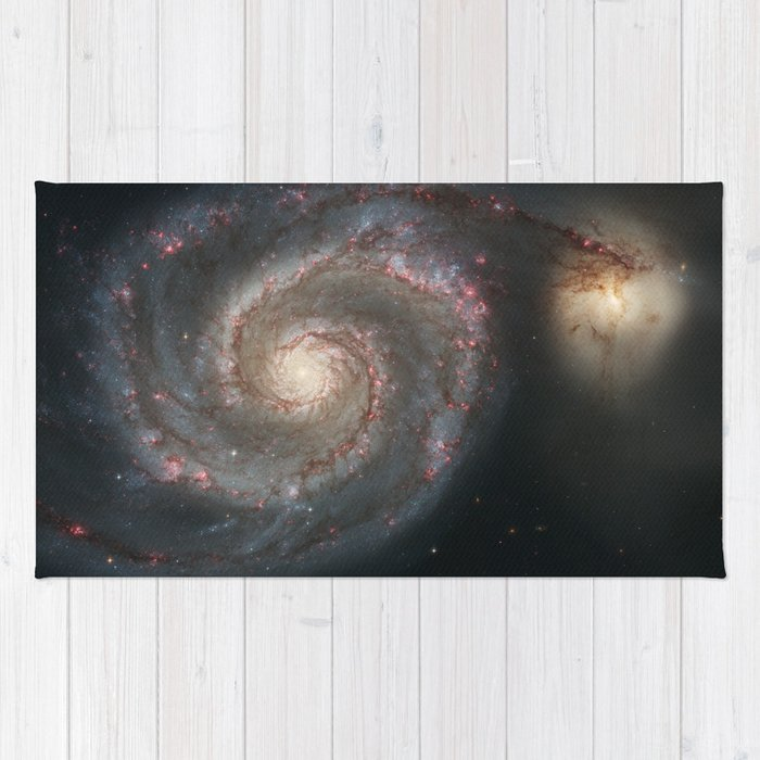 The Whirlpool Galaxy - Space Photograph Rug
