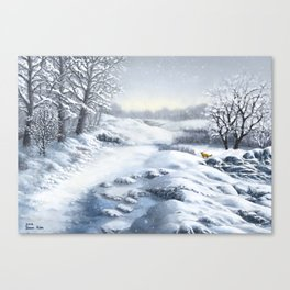 The Hills Are Alive With Snow Canvas Print