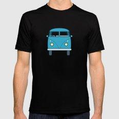 #53 Volkswagen Type 2 Splitscreen Bus Black MEDIUM Mens Fitted Tee