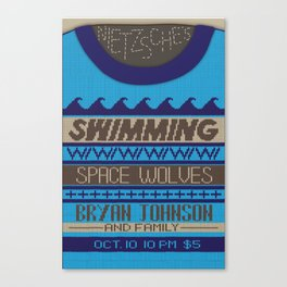 """Sweater Weather"" gig poster Canvas Print"