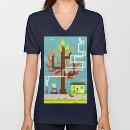 Fall Contemplation Unisex V-Neck