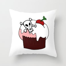 Cupcake with a twist Throw Pillow
