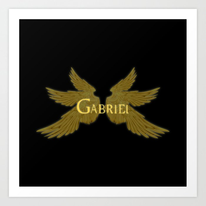 Archangel Gabriel Wings Art Print by falln